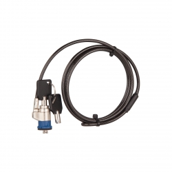 Câble avec serrure à clé compatible Norme Kensington