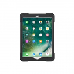Coque de Protection Renforcée Compatible iPad Air 3 et Pro 10.5 - The Joy Factory - avec Dragonne - Norme IP64 - Noir - CWA702