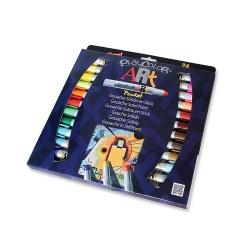 Stylos de Peinture Gouache Solide pour les Artistes 5g - Playcolor Art Pocket - 24 couleurs assorties - 58271