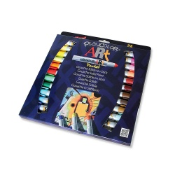 ART POCKET - Stylo de peinture gouache solide 5 g - 24 couleurs assorties - PLAYCOLOR