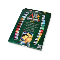 ART ONE - Stick de peinture gouache solide 10 g - 24 couleurs assorties - PLAYCOLOR