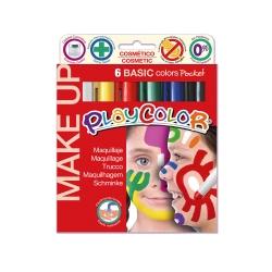 MAKE UP BASIC POCKET - Stick de maquillage sans parabènes - 6 couleurs assorties - PLAYCOLOR