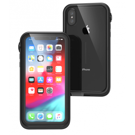 Protection Renforcée Etanche Compatible iPhone XS - Catalyst - Noir