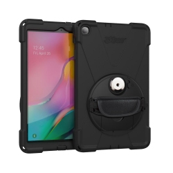 Coque de Protection Renforcée Compatible Galaxy Tab A 10.1 - avec Dragonne - The Joy Factory - Norme IP64 - Noir - CWS112MP