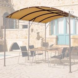 Toile Autoportante Universelle 400g/m dim 4x3m Adaptable Tonnelle GIV-50018 Polyester/PVC