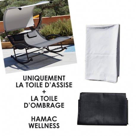 Kit Toile d'Assise + Toile d'Ombrage pour Hamac Double WELLNESS - sans les 2 appuie tètes