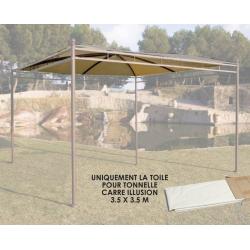 Toile Carrée Universelle 400g/m dim 3,5 X 3,5m Adaptable Tonnelle GIV-50020 - Polyester/PVC