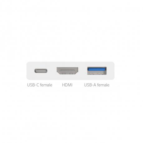 Adaptateur USB Type-C vers USB-C, USB-A et HDMI