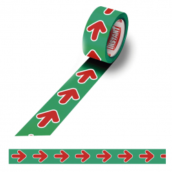 Floor marking arrow tape - Green and Red