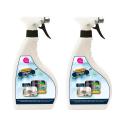 Lot de 2 Spray désinfectant virucide bactéricide 750ml - Efficacité prouvée contre les virus et bactéries - Made in France