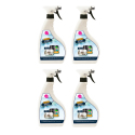 Lot de 4 Spray désinfectant virucide bactéricide 750ml - Efficacité prouvée contre les virus et bactéries - Made in France