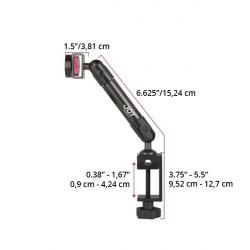 Support Tablette Fixation Etau sur Tube à Bras Unique - The Joy Factory - Fibre de carbone - MMU102
