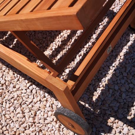 UBUD teak sun lounger 200x71x35 cm - Finely sanded FSC Grade BC teak