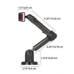 Support Tablette Magnétique à 2 Bras Courts - The Joy Factory - Fibre de carbone - MMU123