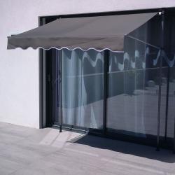 Store Banne SUVA - Auvant manuel pour terrasse 200x130 - Gris