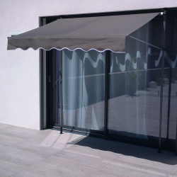Awning Banne SUVA - Manual awning for terrace 200x130 - Gray