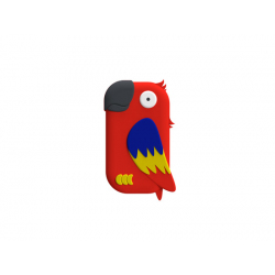 Contactless Wallet for Family Use - Yellow parrot Shape