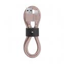 Câble avec Connecteur USB vers Lightning (1.2m) - BELT - Rose