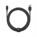 Cable with USB to Lightning Connector (3m) - BELT - Black