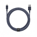 Cable with USB to Lightning Connector (3m) - BELT - Indigo