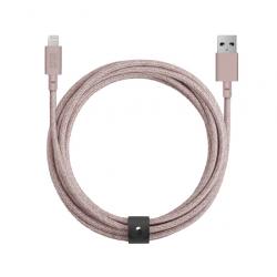 Câble avec Connecteur USB vers Lightning (3m) - BELT - Rose