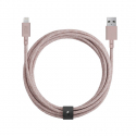 Cable with USB to Lightning Connector (3m) - BELT - Pink