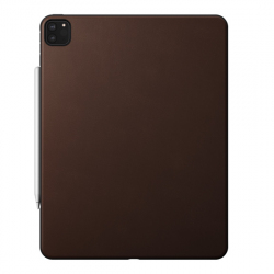 Protective Leather Back Cover for iPad Pro 12.9 (2020) - Brown