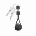 Lightning USB-A Charger Cable Keychain - Black