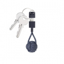 Lightning USB-A Charger Cable Keychain - Indigo