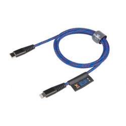 Câble Renforcé en Kevlar avec Connecteur USB-C vers Lightning - Bleu