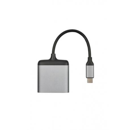 Hub USB-C vers 2x HDMI - Gris