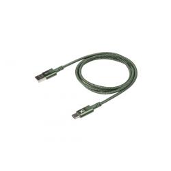 Câble avec connecteur USB vers USB-C (1m) - Vert