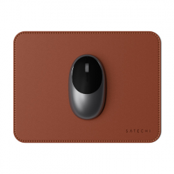 Eco-Friendly Leather Mouse Pad - Brown