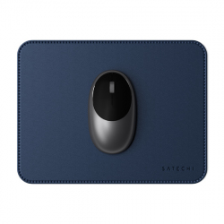 Eco-Friendly Leather Mouse Pad - Blue