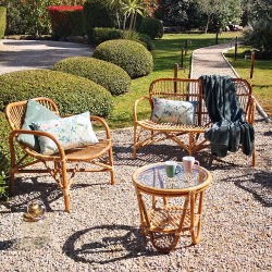 Garden Furniture 4 Rooms - Metal and Textilene Structure - Green