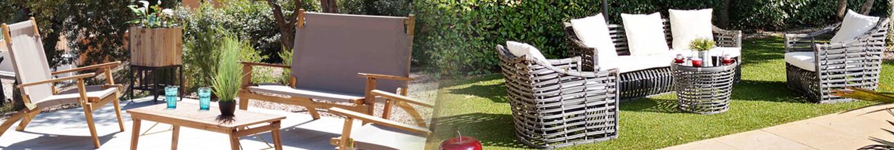 Garden furniture and parasol